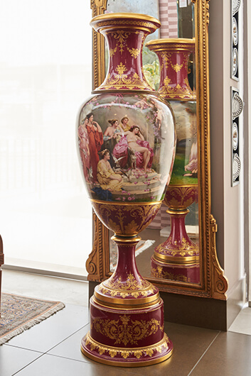 Dresden Vase In Vienna Style 160cm Height Athens Antiques